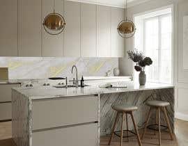 Nro 36 kilpailuun Create realistic visualisation of kitchen glass splashback with gold effect käyttäjältä idgonzalez1105