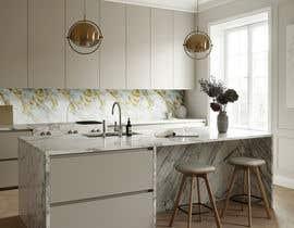 Nro 30 kilpailuun Create realistic visualisation of kitchen glass splashback with gold effect käyttäjältä MuskaanPehal