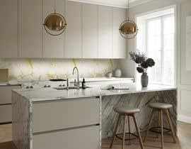 Nro 32 kilpailuun Create realistic visualisation of kitchen glass splashback with gold effect käyttäjältä guljee07