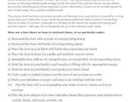 #7 cho I need instructions on how to enchant crystals and pendants bởi MuzamilBaloch