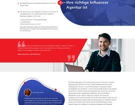 Nro 25 kilpailuun Build new landing page for influencer marketing services käyttäjältä saidesigner87