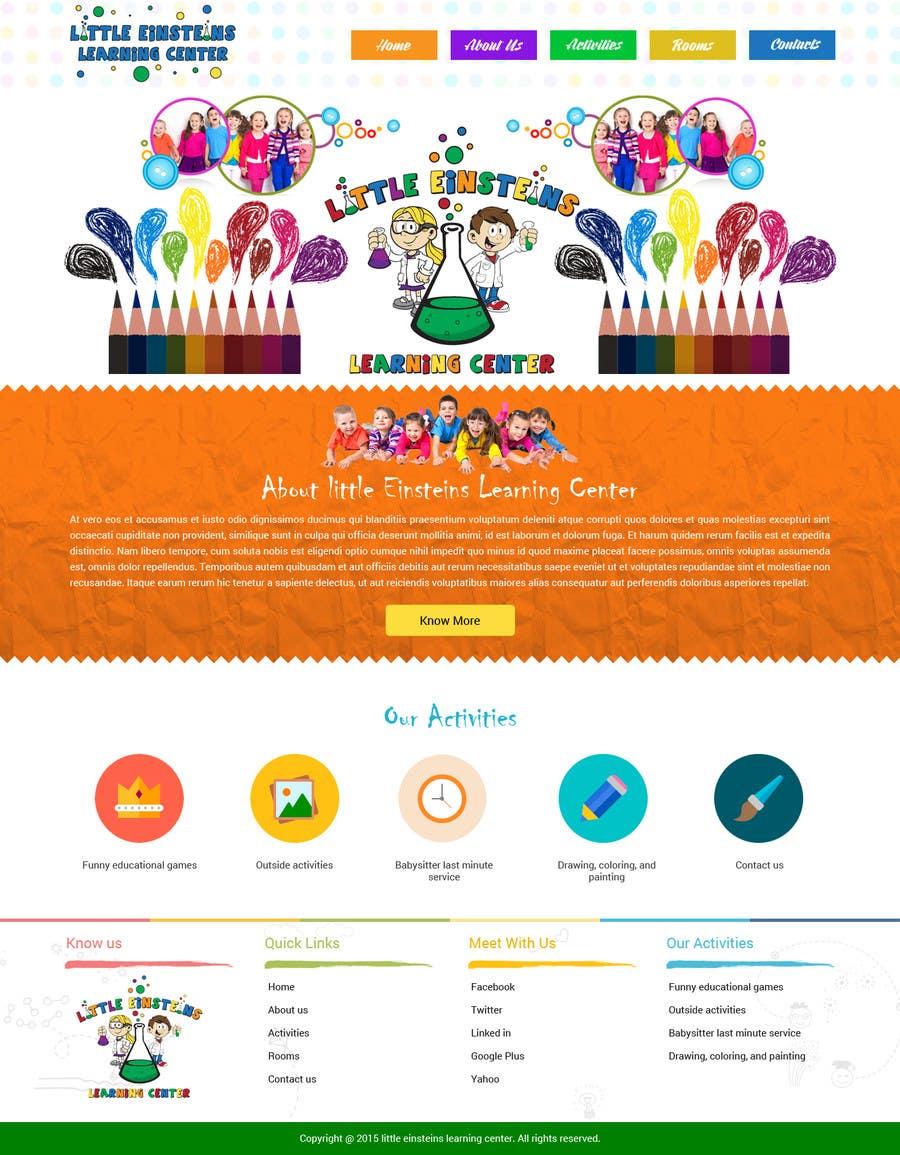 Inscrição nº                                         2                                      do Concurso para                                         Design a Website Mockup for Little Einstein's Learning Center (Daycare)