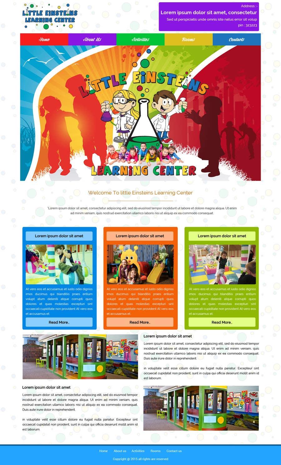 Inscrição nº                                         38                                      do Concurso para                                         Design a Website Mockup for Little Einstein's Learning Center (Daycare)