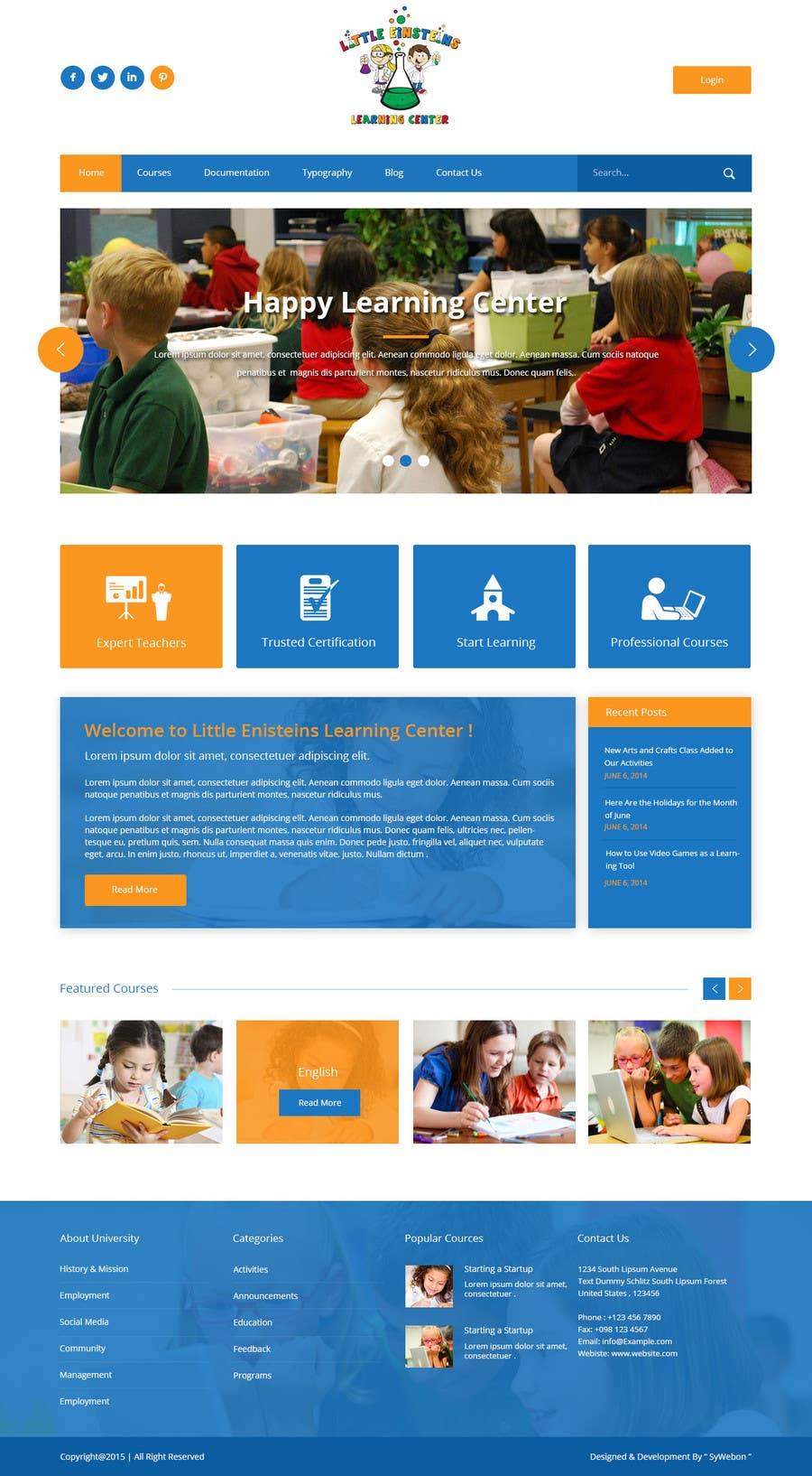 Inscrição nº                                         12                                      do Concurso para                                         Design a Website Mockup for Little Einstein's Learning Center (Daycare)