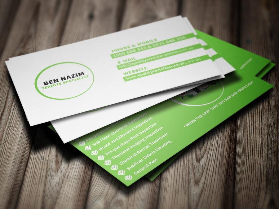 Penyertaan Peraduan #1 untuk Design some Business Cards for a Pest Control business