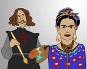 Graphic Design Konkurrenceindlæg #1 for Ilustración personajes de  Velazquez y a Frieda/ frieda and Velazquez characters