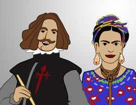 #3 for Ilustración personajes de  Velazquez y a Frieda/ frieda and Velazquez characters af Imagenatio