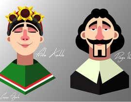 #2 for Ilustración personajes de  Velazquez y a Frieda/ frieda and Velazquez characters af CASebastian