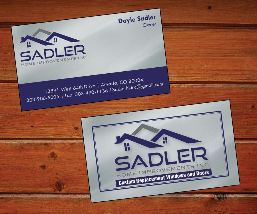 Entry 7 by xmsdesigns for design some business cards for sadler contest entry 7 for design some business cards for sadler home improvements reheart Image collections
