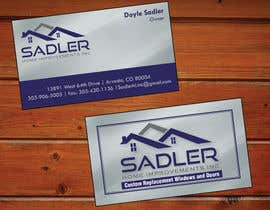 xmsdesigns tarafından Design some Business Cards for sadler home improvements için no 7