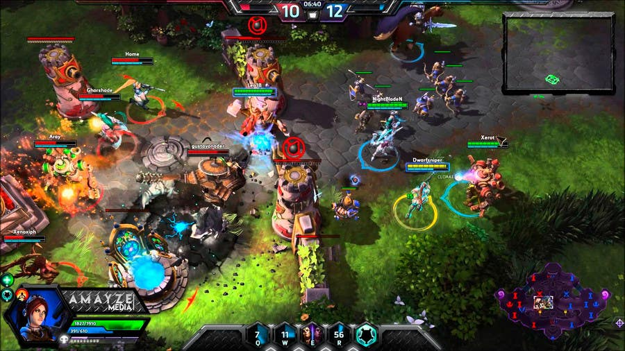Proposition n°8 du concours Gaming Overlay - Heroes of the Storm UI