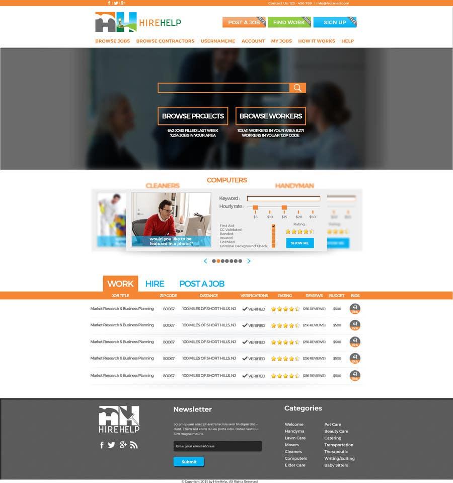 Konkurrenceindlæg #                                        12                                      for                                         Design a Website Mockup for HireHelp.com