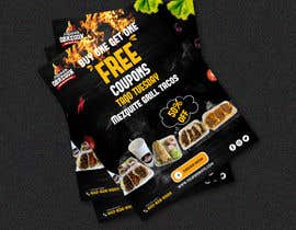 Nro 367 kilpailuun Build me a flyer, buy one get one free coupons.  Three tacos for the price of two.  Taco Tuesday 50%. käyttäjältä mahbuburmahin