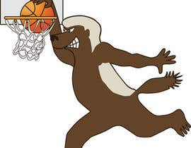 #25 for Honey badger basketball logo af gdougniday