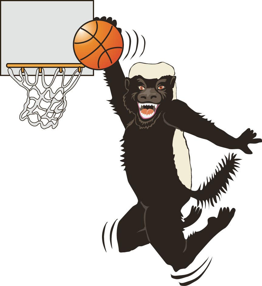 Konkurrenceindlæg #26 for Honey badger basketball logo