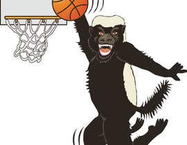 #26 for Honey badger basketball logo af gdougniday