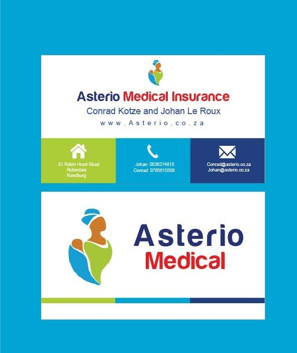 Proposition n°                                        1                                      du concours                                         Design a letterhead and business cards for a medical insurance company