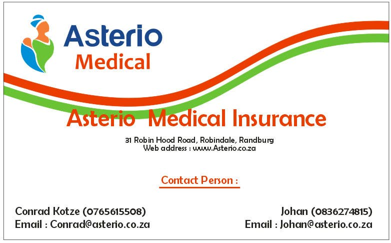 Proposition n°                                        12                                      du concours                                         Design a letterhead and business cards for a medical insurance company