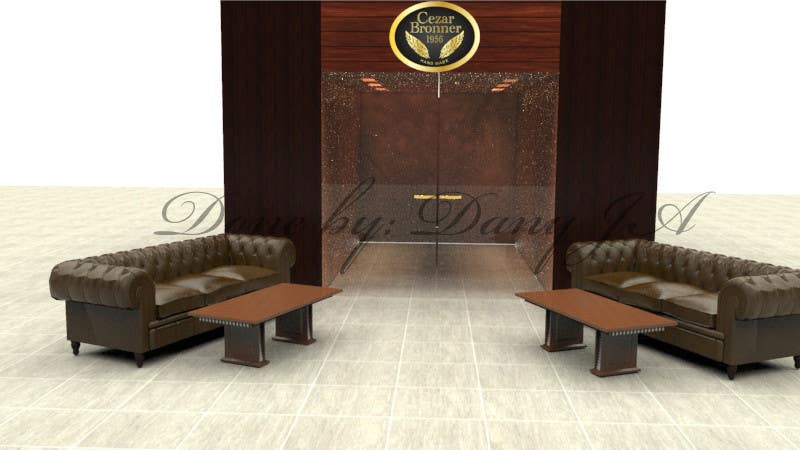 Contest Entry #                                        5                                      for                                         Front face render of a Cigar Lounge.