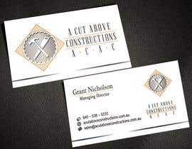 #20 untuk Business Card & Renders for A Cut Above Constructions oleh AlexTV