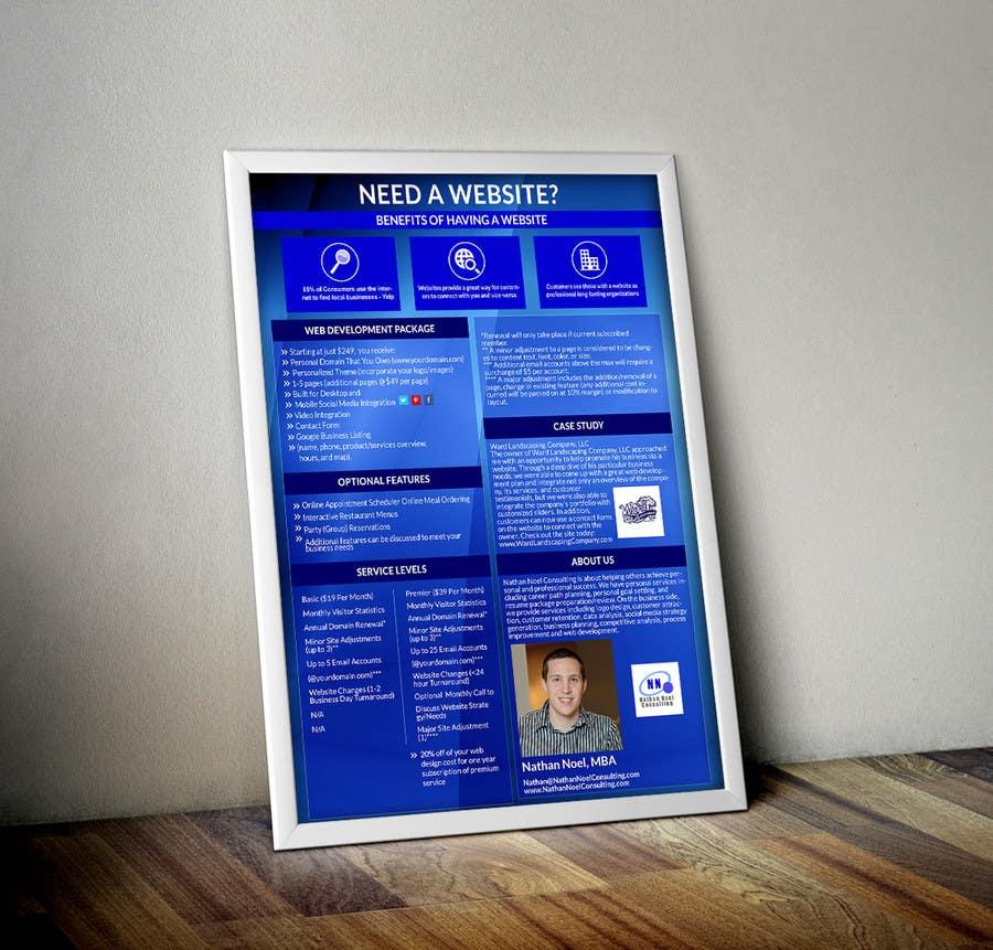 Konkurrenceindlæg #6 for Design a Flyer for Web Design Business