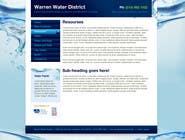 Bài tham dự #5 về Graphic Design cho cuộc thi Design a Website Mockup for Rural Water Company