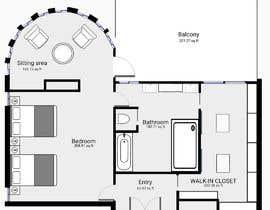 nº 78 pour Redesign  the floor plan of master suite for a better flow par grivangrivan