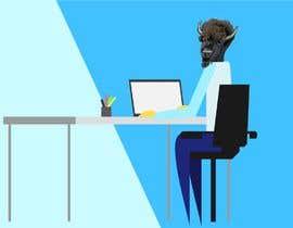nº 17 pour Bison typing on a computer graphic par himelhafiz224466
