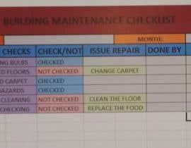 #6 для building  maintenance checklist and excel database от Weirdoos