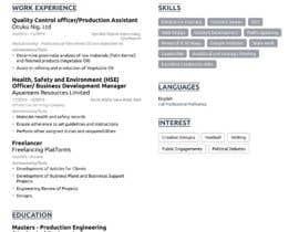 #319 para IT/ academic CV design por udemepaul