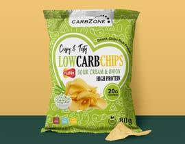 Nro 512 kilpailuun Design a Low Carb High Protein Chips Bag käyttäjältä Adreyat08