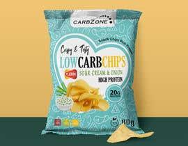 Nro 514 kilpailuun Design a Low Carb High Protein Chips Bag käyttäjältä Adreyat08