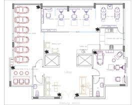 nº 19 pour Beauty Salon interior layout & furniture plan by autocad par filalimeriem