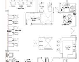 nº 33 pour Beauty Salon interior layout & furniture plan by autocad par noureddinedz90