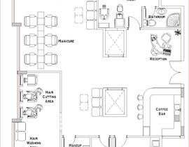 nº 34 pour Beauty Salon interior layout & furniture plan by autocad par noureddinedz90