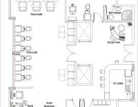 nº 36 pour Beauty Salon interior layout & furniture plan by autocad par noureddinedz90