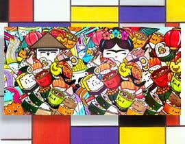 #29 for Kawaii Anime Sushi Food Banner Needed HIgh res by tannu3407
