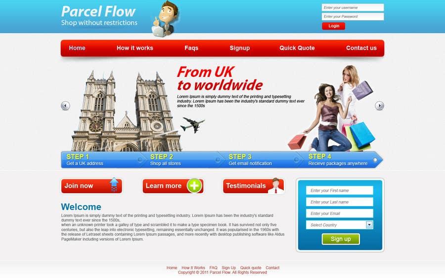 Website Design is needed for a parcel forwarding business in the uk için 22 numaralı Yarışma Girdisi