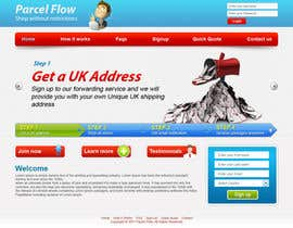 #18 untuk Website Design is needed for a parcel forwarding business in the uk oleh tania06