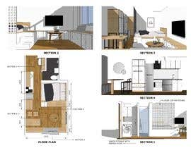 #48 for Floorplan for small studio af NgoTan