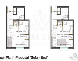 #62 for Floorplan for small studio af DomumStudio