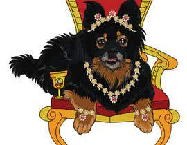 #240 cho Graphic design of a female dog character, with a royalty theme, which will be used as a large graphic on a t-shirt. bởi ashvinirudrake13