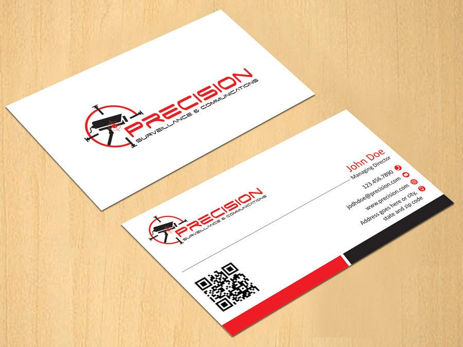 Entry 30 by dinesh0805 for design some business cards for for Cctv business card