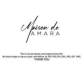 Nro 7 kilpailuun Design a logo - Maison de Amara käyttäjältä sabujmiah552