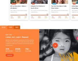 #52 for Website MOCK for a charity organization af sanadiv