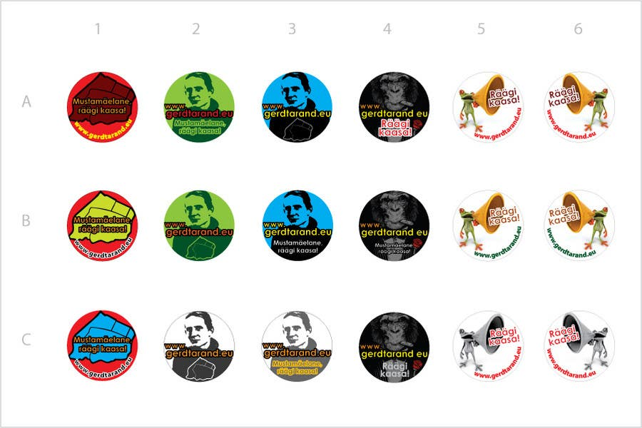 Contest Entry #                                        17                                      for                                         5 Button Badge designs for a Personal/Political Blog