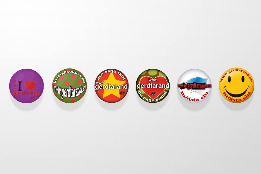Entri Kontes #                                        13                                      untuk                                        5 Button Badge designs for a Personal/Political Blog
