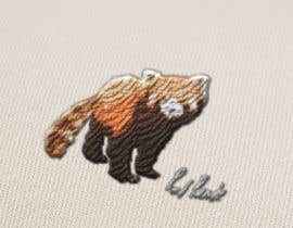 #6 for Design a red panda animal icon for embroidery by denberke