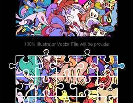 Nro 67 kilpailuun Design a modern abstract illustration for a puzzle käyttäjältä abdsigns