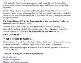 nº 25 pour 10 Helium 10 informational blog posts - new content, not scrapping. Infographics are welcome. par farhankha4548